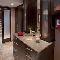 Modern Powder Room by L.EvansDesignGroup,inc