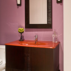 Contemporary Powder Room by Wentworth, Inc.