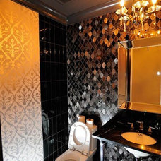 Eclectic Powder Room by Tavan Developments