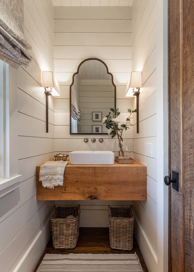 Beach Style Powder Room by Jessica Bradley Interiors