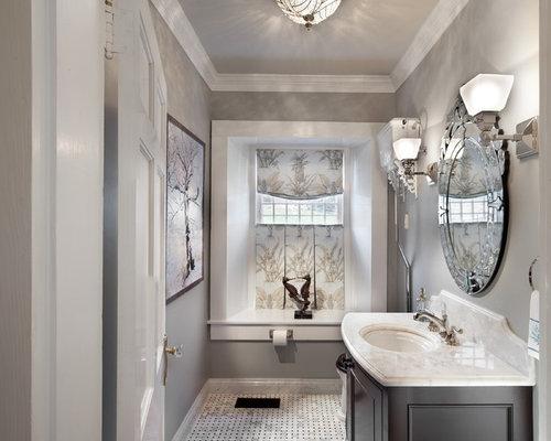 Photos et idees deco de wc et toilettes avec un sol en marbre for Kitchen colors with white cabinets with derouleur papier wc