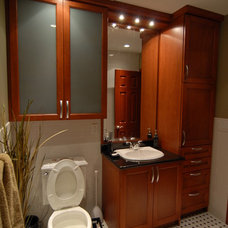 Contemporary Powder Room by Alex  York Furniture