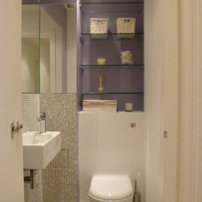 Contemporary Powder Room by Global Inspirations Design