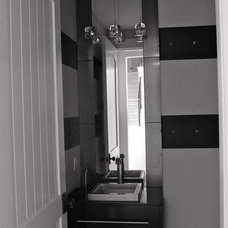 Contemporary Powder Room by Anthony Company Builders LLC