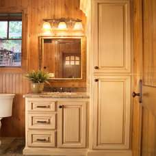 Traditional Powder Room by Prestige Custom Cabinetry & Millwork, Inc.