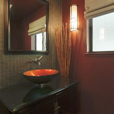 Eclectic Powder Room Bathroom Design Inspiration in Lafayette CA Homes Staged to Sell