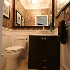 Traditional Powder Room by Interior Works Inc
