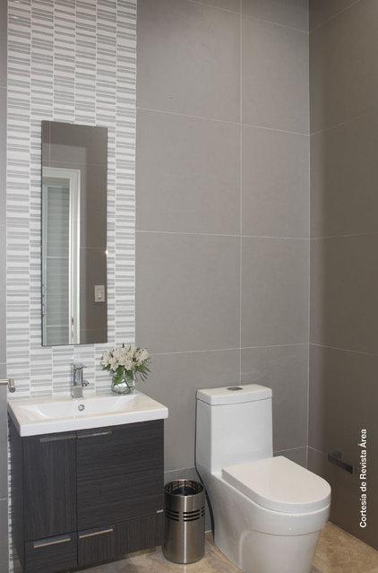 Modern Powder Room by Elsie Torres Interior Designs, Inc.