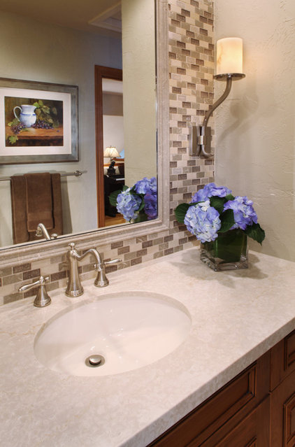 Traditional Powder Room by Kitchen Distributors