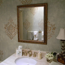 Eclectic Powder Room by Of The Essence Designs