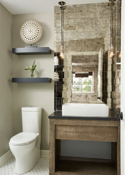 Trending now 15 powder rooms that steal the show - Powder room remodel ideas ...