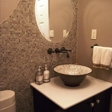 Transitional Powder Room by Rittenhouse Builders