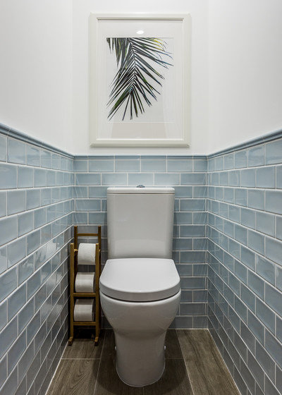 Coastal Powder Room by Anna Kovalchenko Interiors
