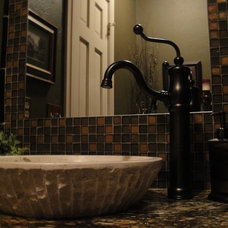 Traditional Powder Room by Rhonda Kieson Designs