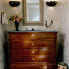 Traditional Powder Room by Sone Design, Inc.