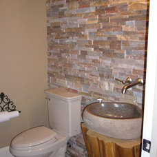 Traditional Powder Room by Thorntree Slate