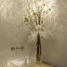 Modern Powder Room by Amy Noel Design