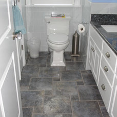 Traditional Powder Room by Berkley Custom Tile