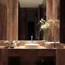 Contemporary Powder Room by Martin Gomez Arquitectos