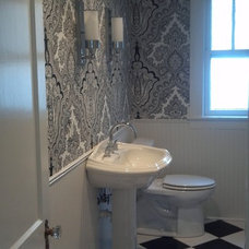 Traditional Powder Room by Seth D Jones, allied ASID