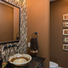 Traditional Powder Room by Terry Ellis, ASID - Room Service Interior Design