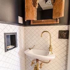 Eclectic Powder Room by indigo & ochre design