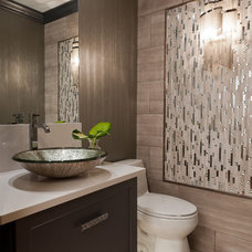 Contemporary Powder Room by St. Louis Homes & Lifestyles Magazine