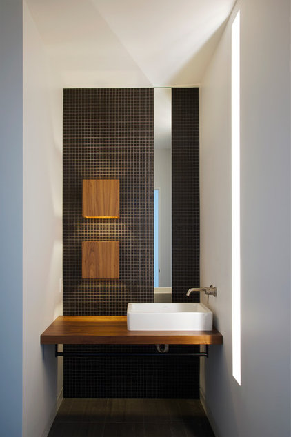 Modern Powder Room by Hufft Projects