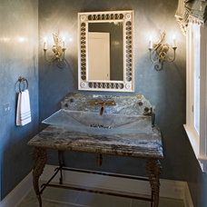Eclectic Powder Room by Bruce Palmer Interior Design