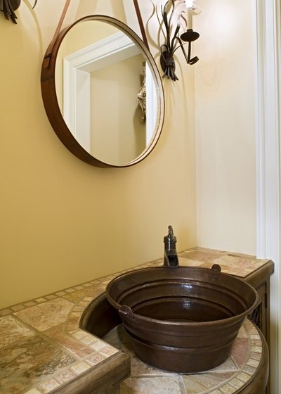 Nice Traditional Powder Room by Bruce Palmer Interior Design