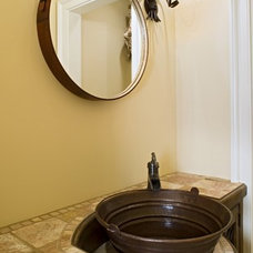 Traditional Powder Room by Bruce Palmer Interior Design