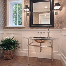 traditional powder room by Patterson Custom Homes