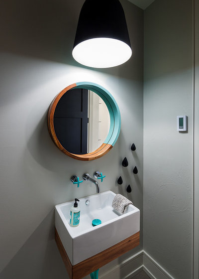 Contemporary Powder Room by Brechbuhler Architects