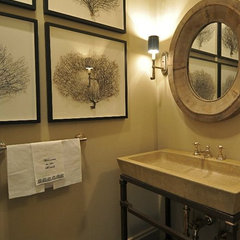 traditional powder room by Bill Huey + Associates
