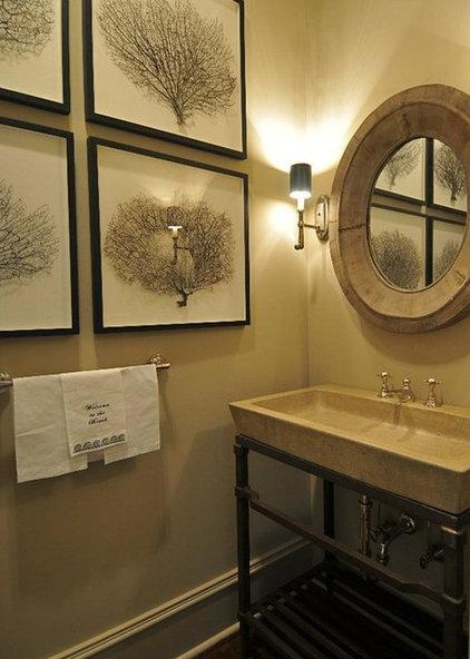 Traditional Powder Room by Bill Huey + Associates