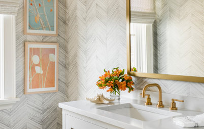 Powder Room Patterns: 10 Chic Chevron Looks