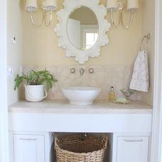 Beach Style Powder Room by Molly Frey Design