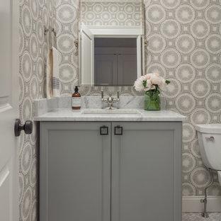 Carrara Marble Powder Room Ideas Photos Houzz