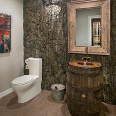 Rustic Powder Room by Albi Renova