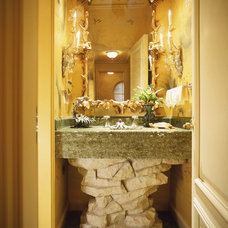 Eclectic Powder Room by Tucker & Marks