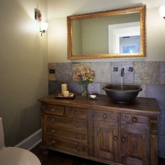 traditional powder room by Becker Architects Limited