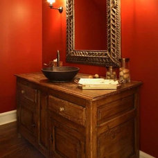 Eclectic Powder Room by Becker Architects Limited