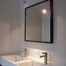 Farmhouse Powder Room by Becker Architects Limited
