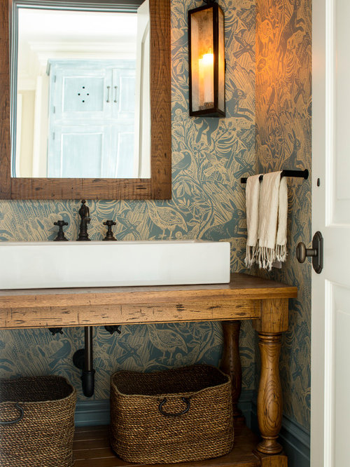 Example Of A Classic Powder Room Design In New York With Furniture Like  Cabinets,