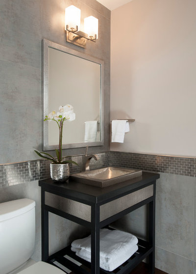 Traditional Powder Room by Timeline Design + Build