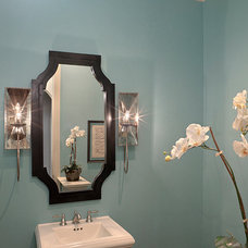 Traditional Powder Room by Audrey Drought Design