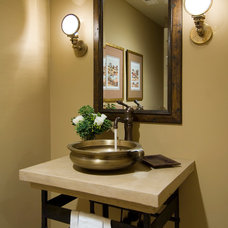 Traditional Powder Room by Mitchell Barnett Architect, PC