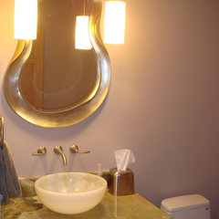 eclectic powder room by Signature Designs by Bonnie Bagley
