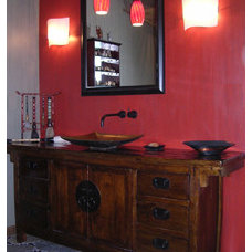 Asian Powder Room BERYN HAMMIL DESIGNS