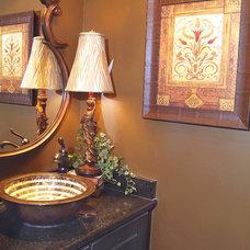 Traditional Powder Room by David Clark Construction, LLC